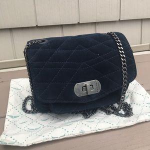 Zadig & Voltaire Suede Navy Crossbody Mini Bag